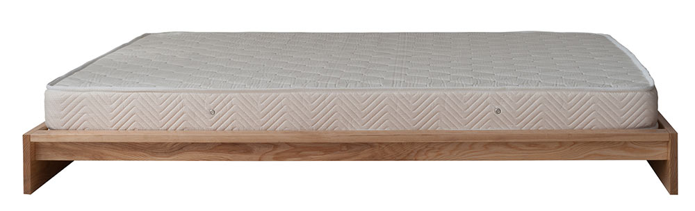 Ki wooden bed from side