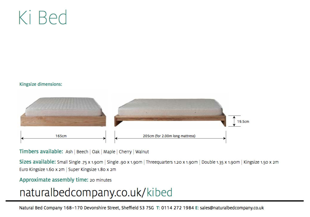 Ki wooden bed dimensions and size options