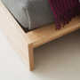 ki wooden bed corner detail