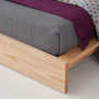 ki wooden bed foot detail