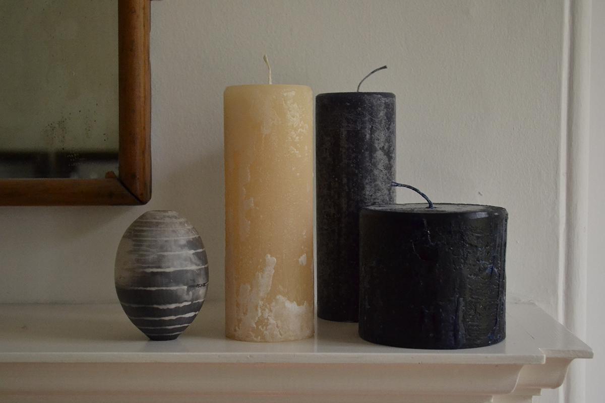 Melt candles - noir & rich cream