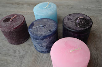 melt scented candles - low & wide