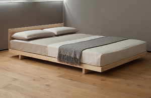 Low platform style solid wooden bed - The Kobe - great for rooms with low ceilings