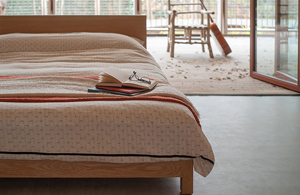 Sonora a low beds wooden bed hand made from sustainably sourced timber