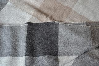 alpaca throw - squares grey
