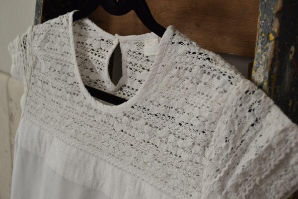 lace and cotton nightdress