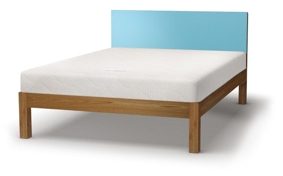 Tao coloured headboard bed in oak