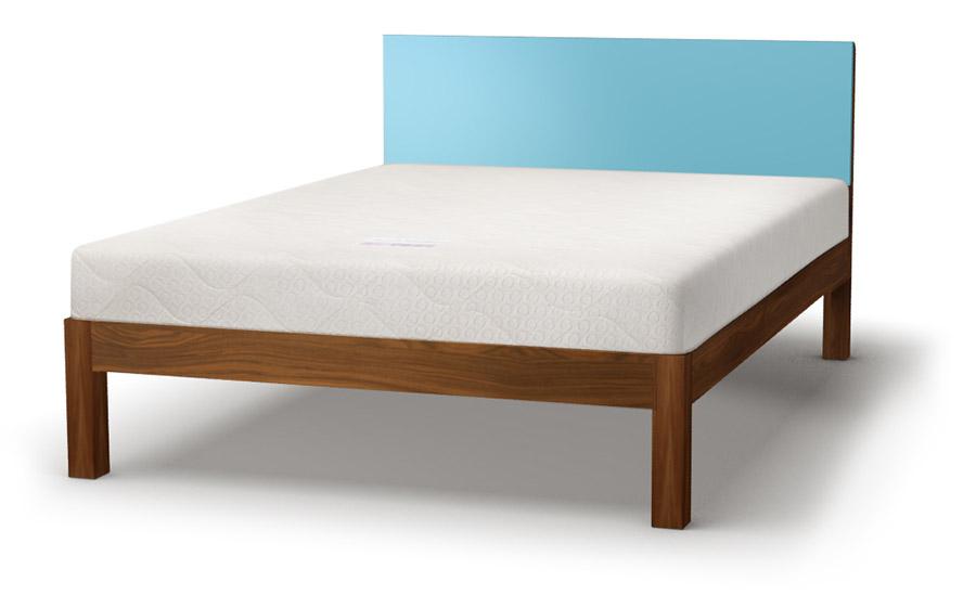 Tao coloured headboard bed in walnut
