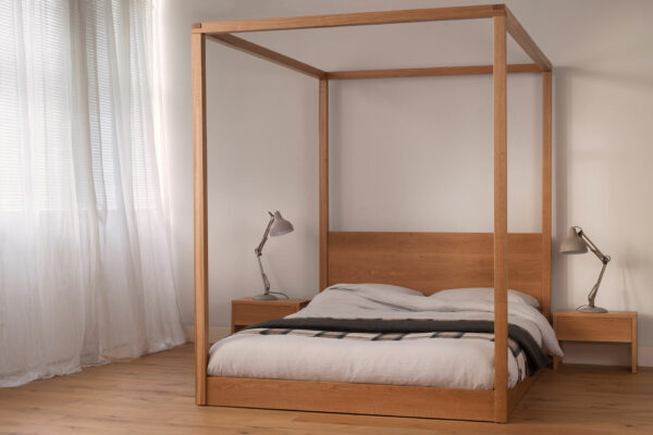 Cube - modern four poster bed