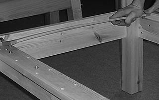 attaching slats