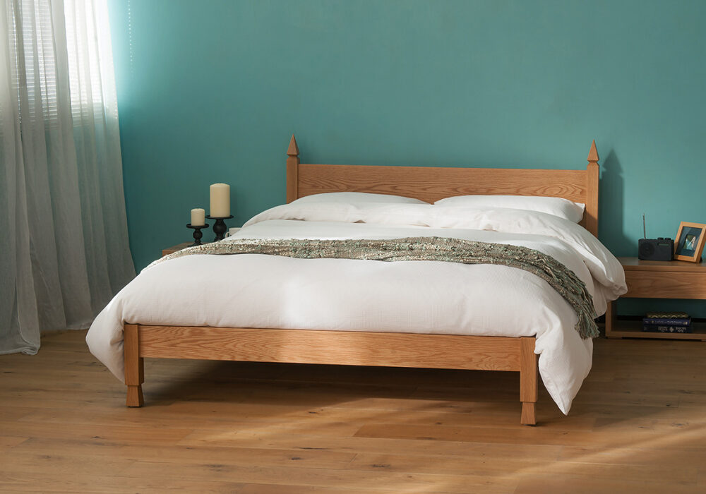 Mandalay Indian style solid wooden bed here made from Oak
