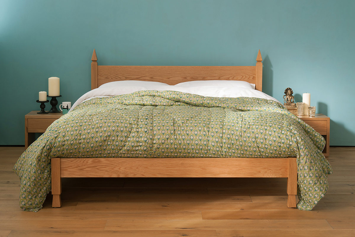 Mandalay an Indian style bed frame hand made from solid wood