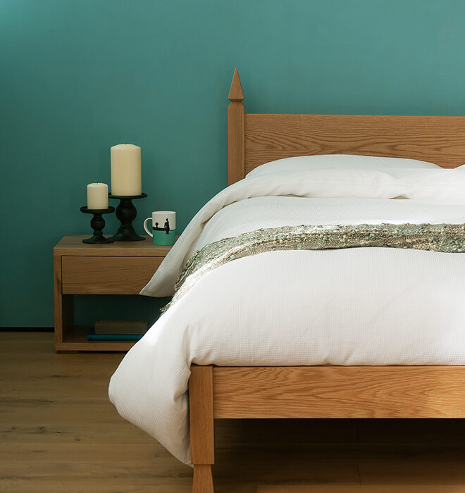 A contemporary Indian inspired wooden bed - the Mandalay
