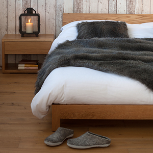 Nevada low wooden bed made to order in a choice of timber and a range of bed sizes