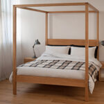 orchid four poster in oak