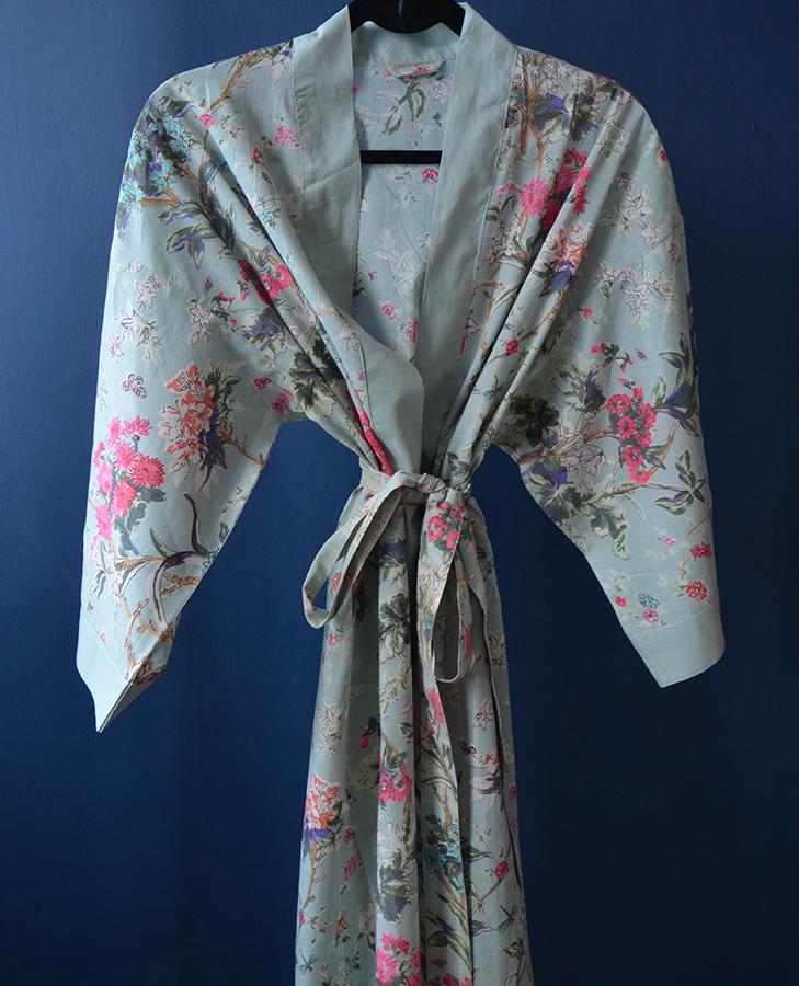duck egg blue kimono