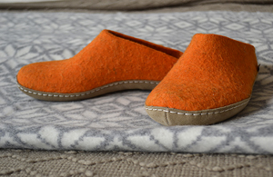 orange glerups slippers