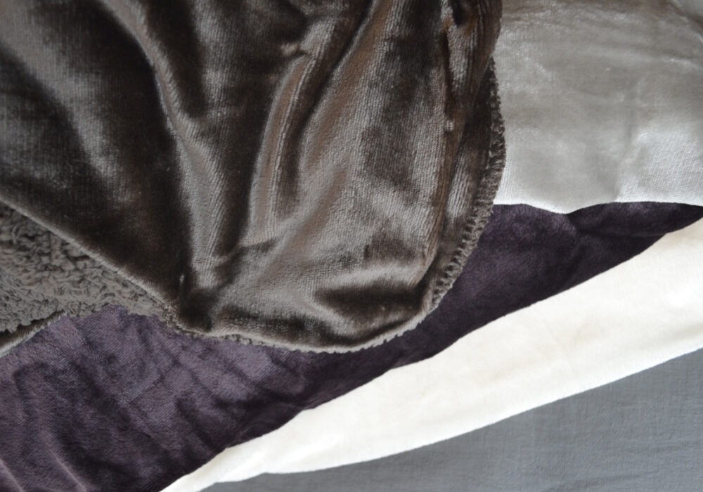 soft & cosy blankets - ivory, mauve, silver & slate