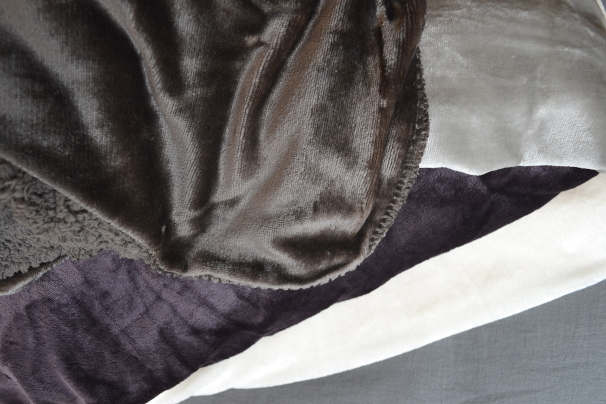 soft & cosy blankets - ivory, mauve, silver & slate