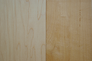 solid maple - natural & clear