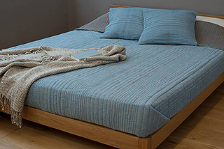 Ripple quilted bedspread