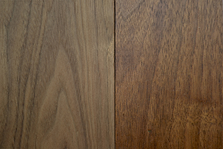 solid walnut - natural & clear