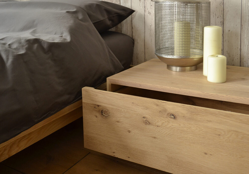 Madra bedside drawer unit - open