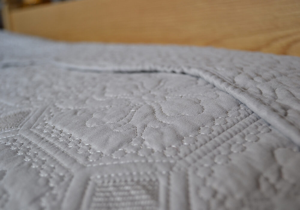 deep stone quilted bedspread