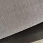 herringbone grey duvet with 1000TC sheet