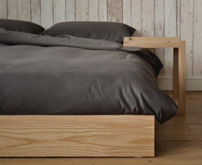 ki low bed & frame bedside table
