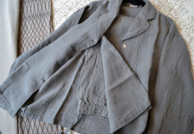 linen charcoal pyjamas