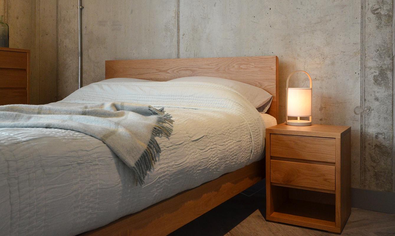 Aqua Shanti Quilt on Oak Malabar Bed