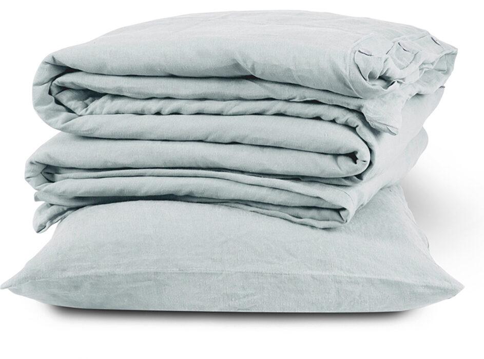 linen bedding bundle duck egg