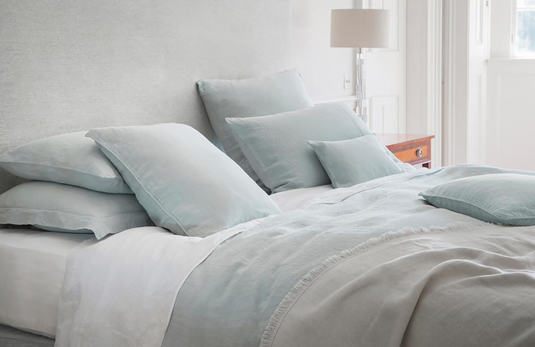 linen bedding duck-egg