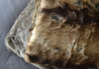 natural look faux fur throws