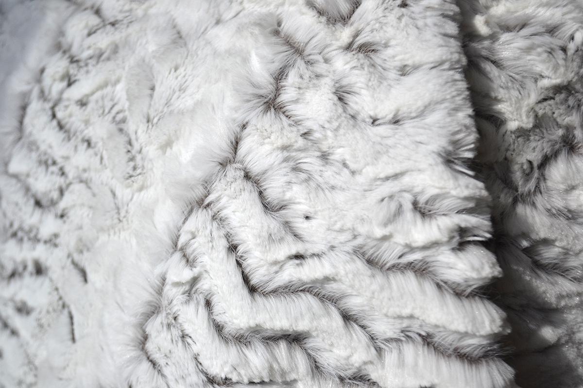 gigi white faux fur throw