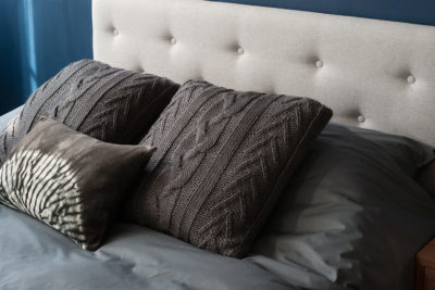 arran smoke plain bedding & cushions