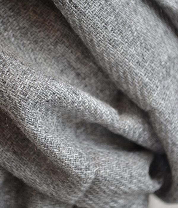 deep grey cashmere scarf - close up