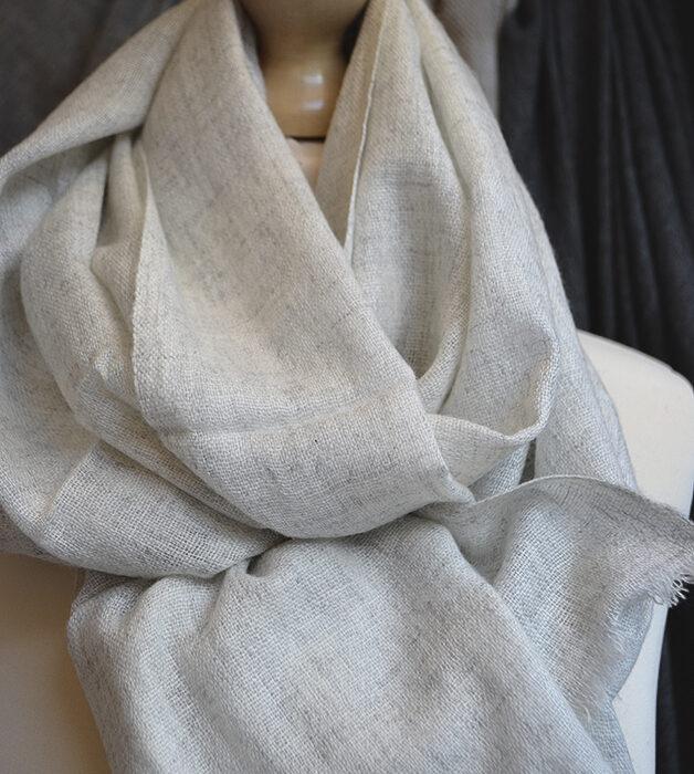 light grey & ivory marl scarf
