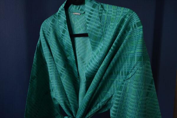 emerald cotton kimono