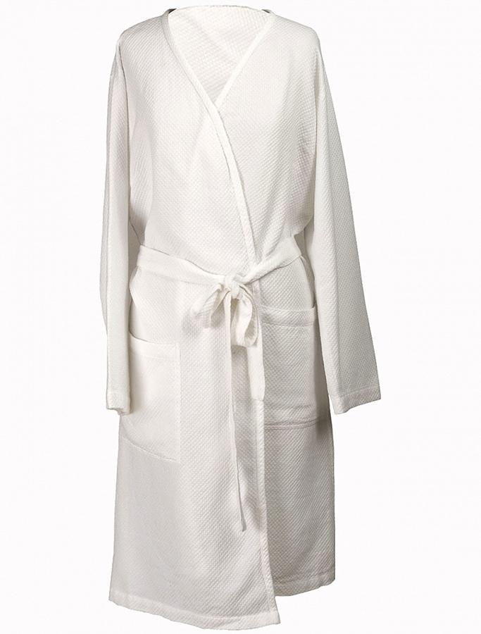 linum kimono robe ivory