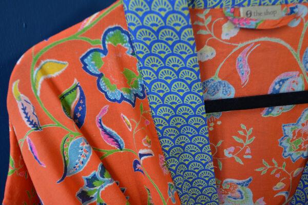 Kimono dressing gown - paprika