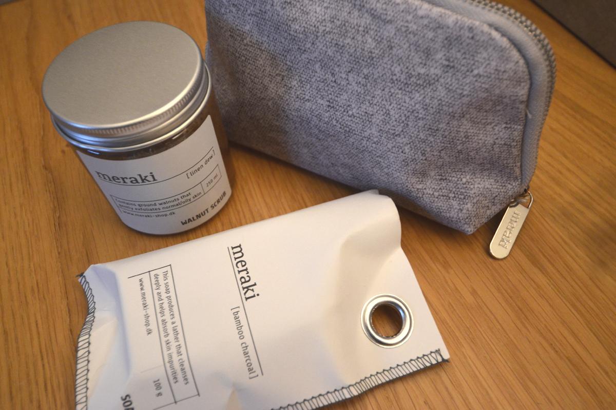 Meraki cleansing set - soap, scrub and wash bag