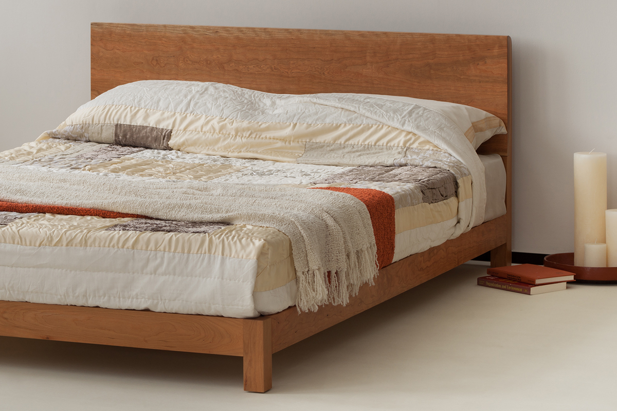 ex-display cherry sonora - kingsize low cherry bed