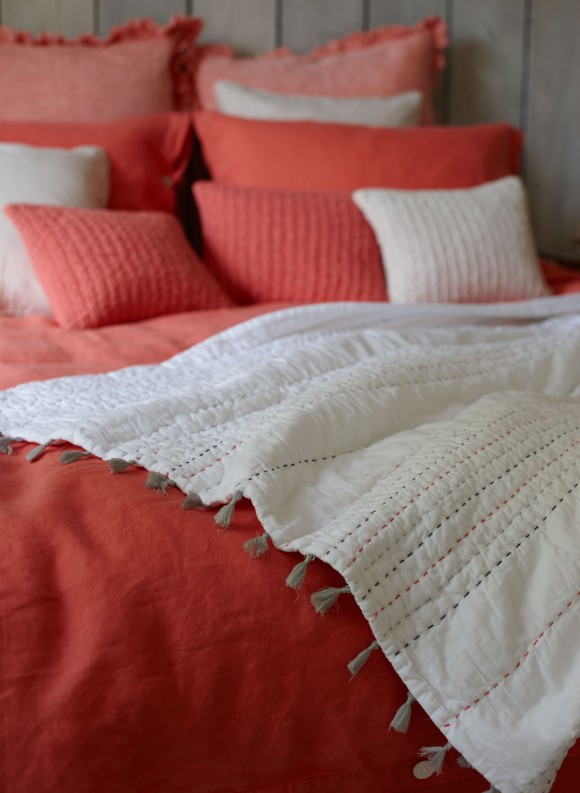 coral linen & juno quilt