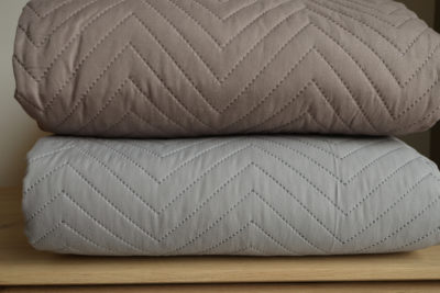 stitched and quilted bedspreads - chevron design