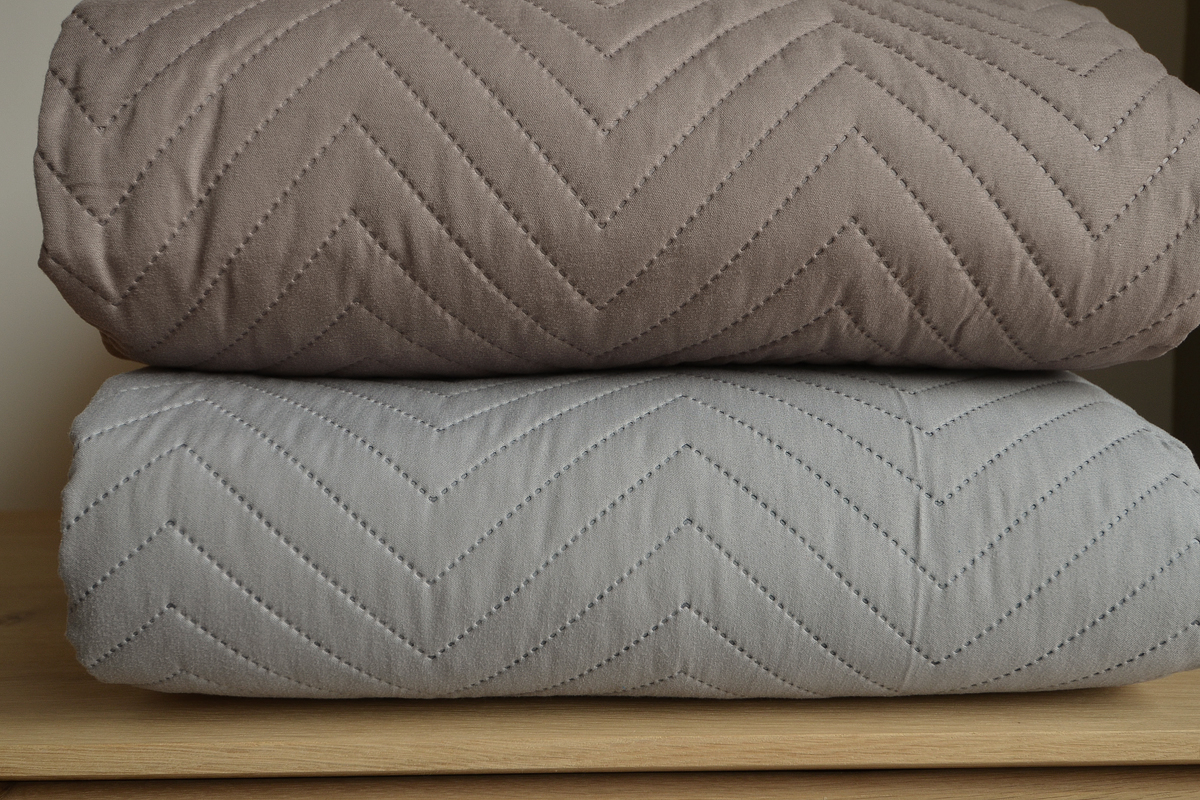 Chevron Stitched And Quilted Bedspreads Natural Bed