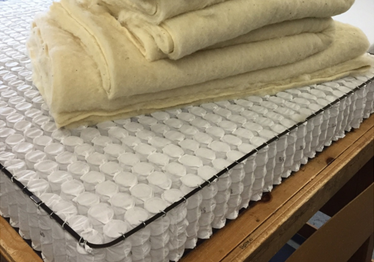 craft mattress - covered springs with wool padding