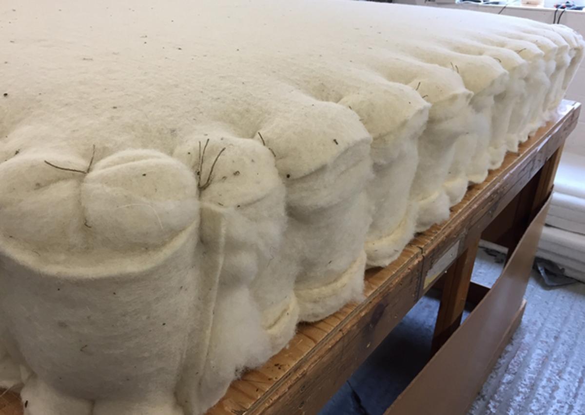 craft mattress - wool padding