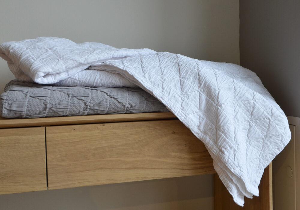 diamond pattern bedspreads